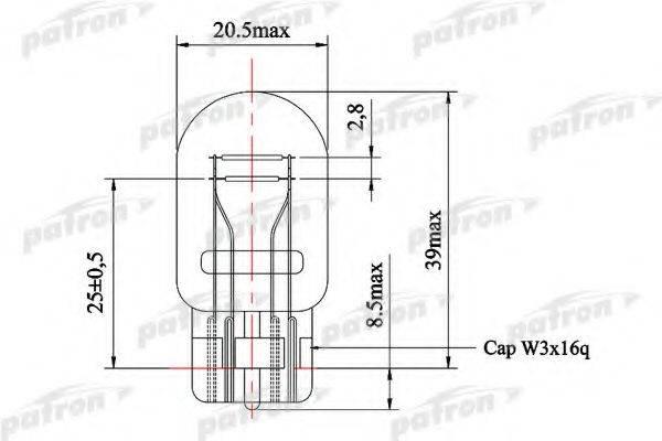 PATRON PLW215 Лампа накаливания, фонарь сигнала тормож./ задний габ. огонь; Лампа накаливания, стояночные огни / габаритные фонари; Лампа накаливания, фонарь сигнала тормож./ задний габ. огонь; Лампа накаливания, стояночные огни / габаритные фонари; Лампа, противотуманные . задние фонари; Лампа накаливания, фара дневного освещения; Лампа накаливания, фара дневного освещения