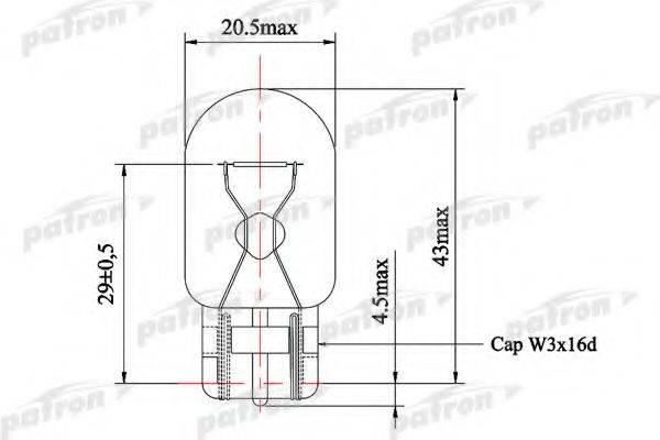 PATRON PLW21W Лампа накаливания, фонарь указателя поворота; Лампа накаливания, фонарь сигнала торможения; Лампа накаливания, задняя противотуманная фара; Лампа накаливания, фара заднего хода; Лампа накаливания, фонарь указателя поворота; Лампа накаливания, фонарь сигнала торможения; Лампа накаливания, задняя противотуманная фара; Лампа накаливания, фара заднего хода; Лампа накаливания, дополнительный фонарь сигнала торможения; Лампа накаливания, дополнительный фонарь сигнала торможения