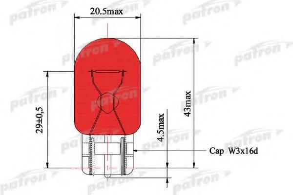PATRON PLWY21W Лампа накаливания, фонарь указателя поворота; Лампа накаливания, фонарь указателя поворота