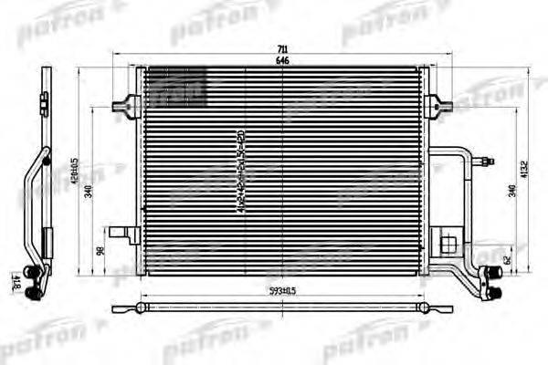 PATRON PRS1101 Конденсатор, кондиционер