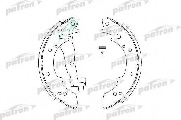PATRON PSP173 Комплект тормозных колодок