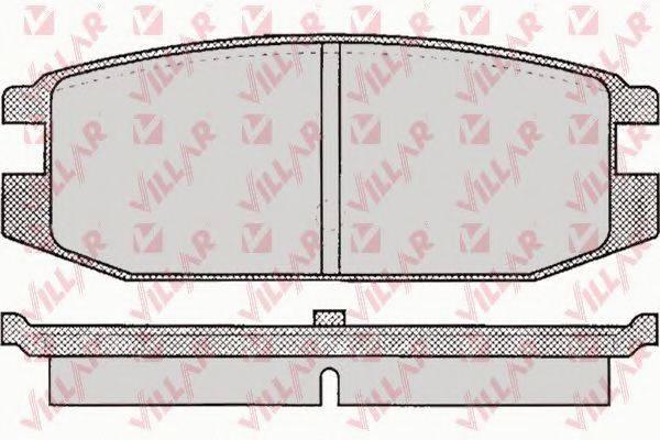 VILLAR 6260045 Комплект тормозных колодок, дисковый тормоз