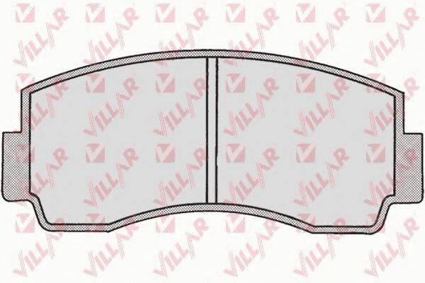 VILLAR 6260167 Комплект тормозных колодок, дисковый тормоз