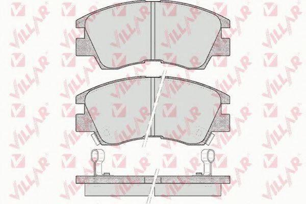 VILLAR 6260315 Комплект тормозных колодок, дисковый тормоз