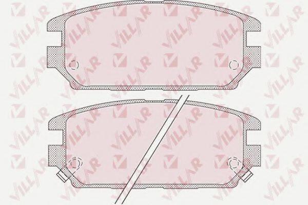 VILLAR 6261016 Комплект тормозных колодок, дисковый тормоз