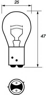 MOTAQUIP VBU566 Лампа накаливания, фонарь сигнала торможения; Лампа накаливания, задняя противотуманная фара; Лампа накаливания, задний гарабитный огонь