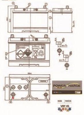 MOTAQUIP VBY45 Стартерная аккумуляторная батарея