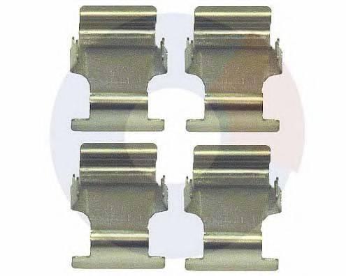 CARRAB BRAKE PARTS 2341 Комплектующие, колодки дискового тормоза