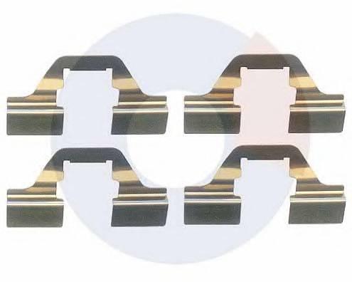 CARRAB BRAKE PARTS 2348 Комплектующие, колодки дискового тормоза
