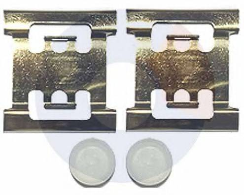 CARRAB BRAKE PARTS 2372 Комплектующие, колодки дискового тормоза