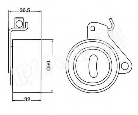 IPS PARTS ITB6509 Устройство для натяжения ремня, ремень ГРМ