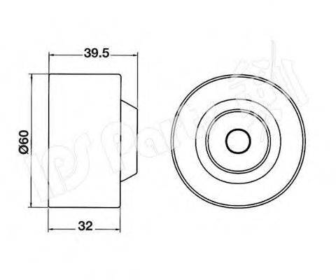 IPS PARTS ITB6513 Устройство для натяжения ремня, ремень ГРМ