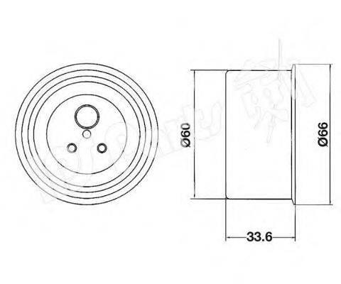 IPS PARTS ITB6519 Устройство для натяжения ремня, ремень ГРМ