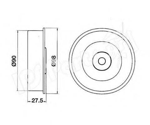IPS PARTS ITB6523 Устройство для натяжения ремня, ремень ГРМ