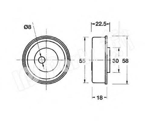 IPS PARTS ITB6531 Устройство для натяжения ремня, ремень ГРМ