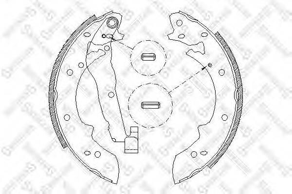 STELLOX 038101SX Комплект тормозных колодок