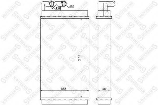 STELLOX 1035001SX Теплообменник, отопление салона