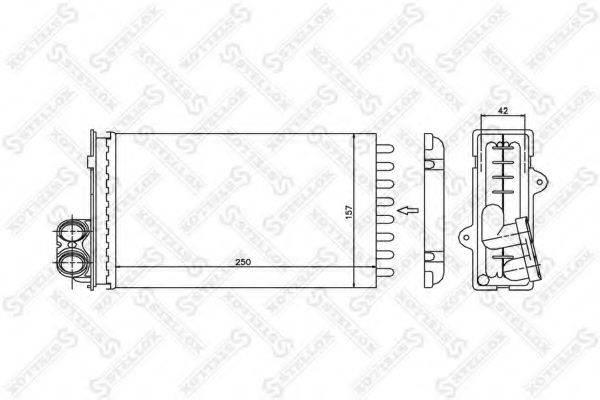 STELLOX 1035012SX Теплообменник, отопление салона