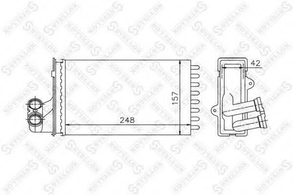 STELLOX 1035013SX Теплообменник, отопление салона