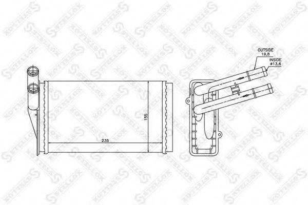 STELLOX 1035021SX Теплообменник, отопление салона