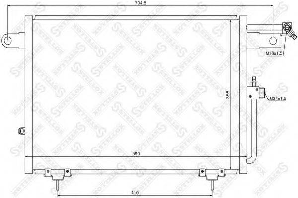 STELLOX 1045007SX Конденсатор, кондиционер