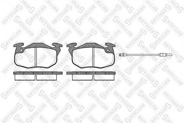 STELLOX 203012SX Комплект тормозных колодок, дисковый тормоз