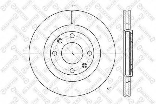 STELLOX 60209915VSX Тормозной диск