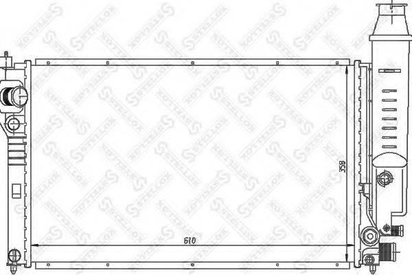 STELLOX 1026124SX Радиатор, охлаждение двигателя