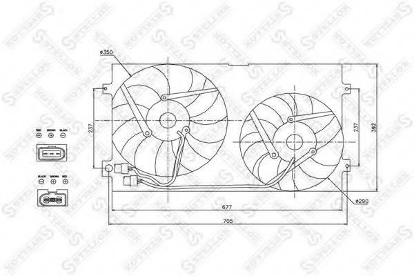 STELLOX 2999007SX Вентилятор, охлаждение двигателя