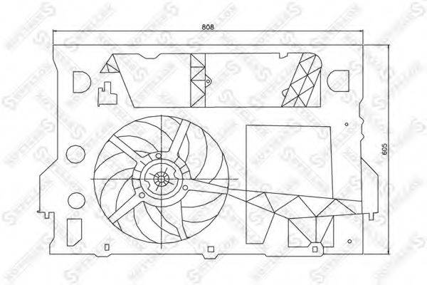 STELLOX 2999289SX Вентилятор, охлаждение двигателя