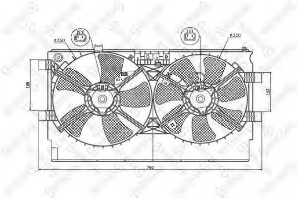STELLOX 2999380SX Вентилятор, охлаждение двигателя