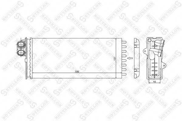 STELLOX 1035177SX Теплообменник, отопление салона