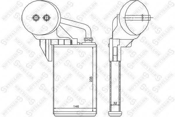 STELLOX 1035212SX Теплообменник, отопление салона