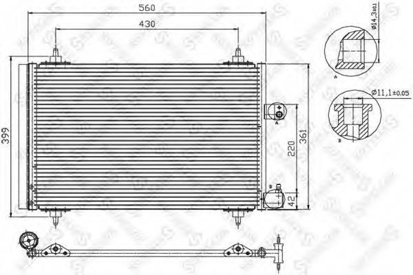 STELLOX 1045067SX Конденсатор, кондиционер
