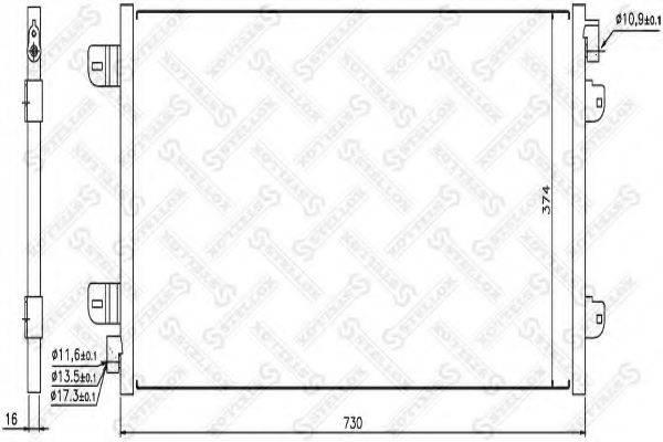 STELLOX 1045149SX Конденсатор, кондиционер