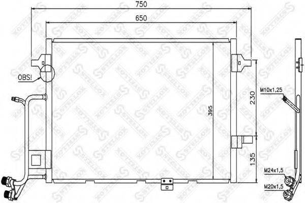 STELLOX 1045204SX Конденсатор, кондиционер