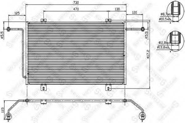 STELLOX 1045493SX Конденсатор, кондиционер