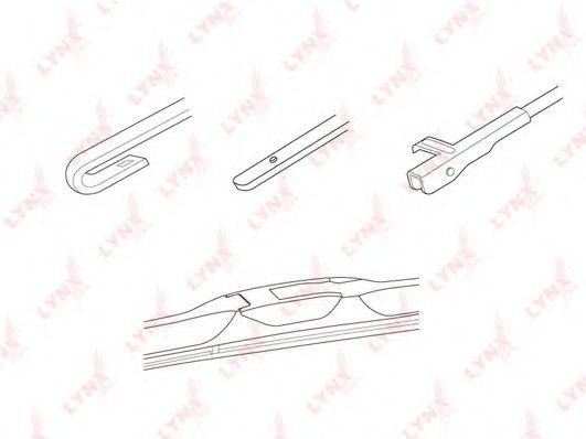 LYNXAUTO LX500 Щетка стеклоочистителя