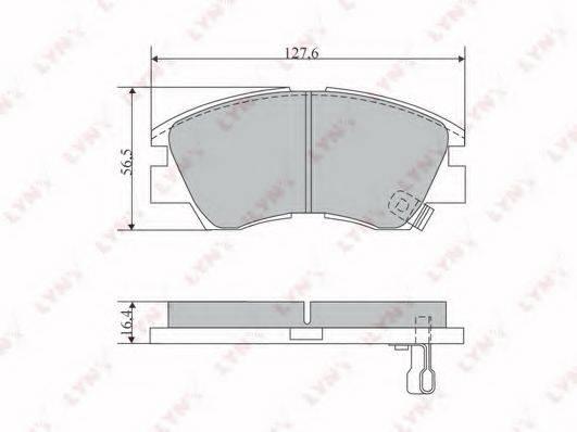 LYNXAUTO BD5519 Комплект тормозных колодок, дисковый тормоз