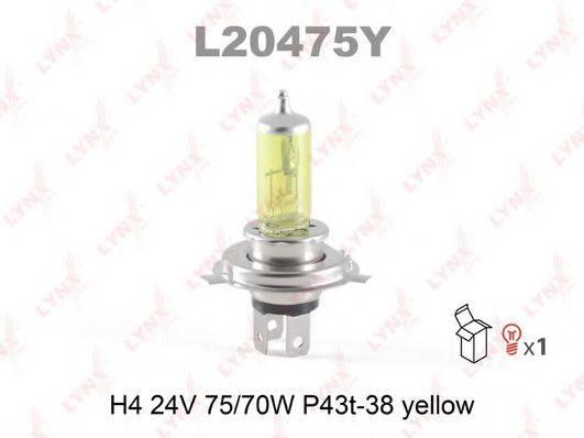 LYNXAUTO L20475Y Лампа накаливания, противотуманная фара