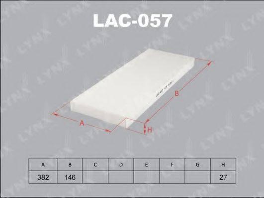 LYNXAUTO LAC057 Фильтр, воздух во внутренном пространстве