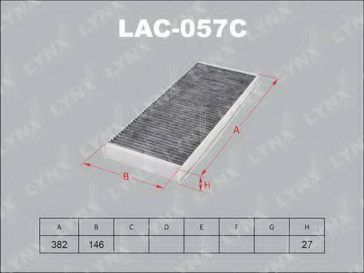 LYNXAUTO LAC057C Фильтр, воздух во внутренном пространстве