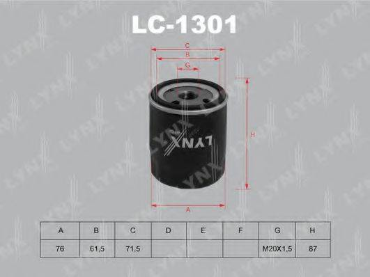 LYNXAUTO LC1301 Масляный фильтр