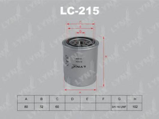 LYNXAUTO LC215 Масляный фильтр