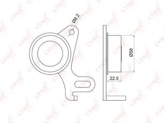 LYNXAUTO PB1031 Натяжной ролик, ремень ГРМ