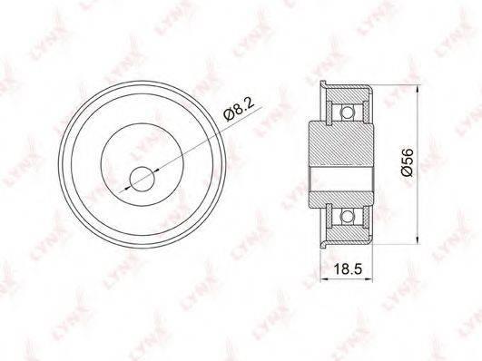 LYNXAUTO PB1037 Натяжной ролик, ремень ГРМ