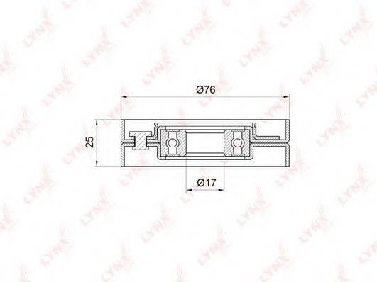 LYNXAUTO PB5001 Натяжной ролик, поликлиновой  ремень