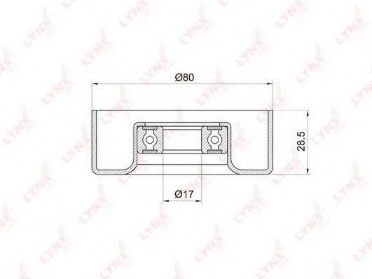 LYNXAUTO PB5010 Натяжной ролик, поликлиновой  ремень