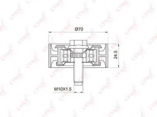 LYNXAUTO PB7020 Паразитный / ведущий ролик, поликлиновой ремень