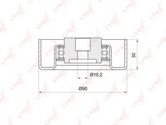 LYNXAUTO PB7021 Паразитный / ведущий ролик, поликлиновой ремень